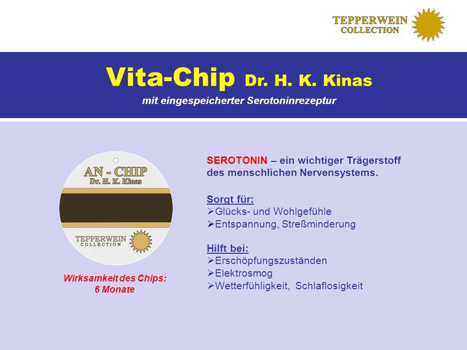 mit eingespeicherter Serotoninrezeptur Wirksamkeit des Chips: