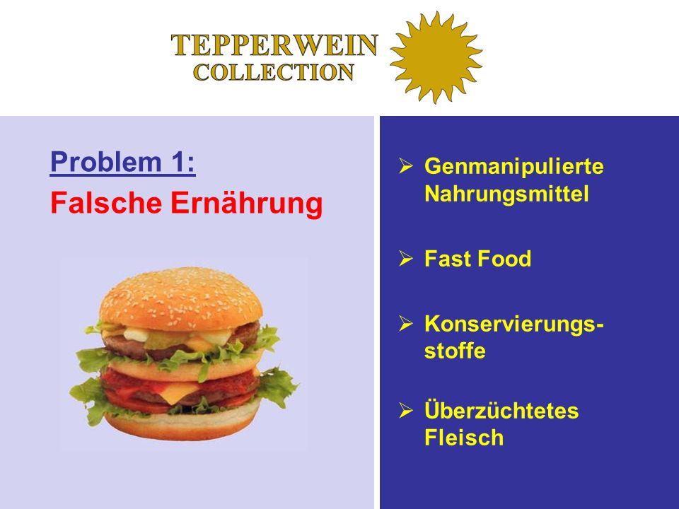 Falsche Ernährung Problem 1: Genmanipulierte Nahrungsmittel Fast Food
