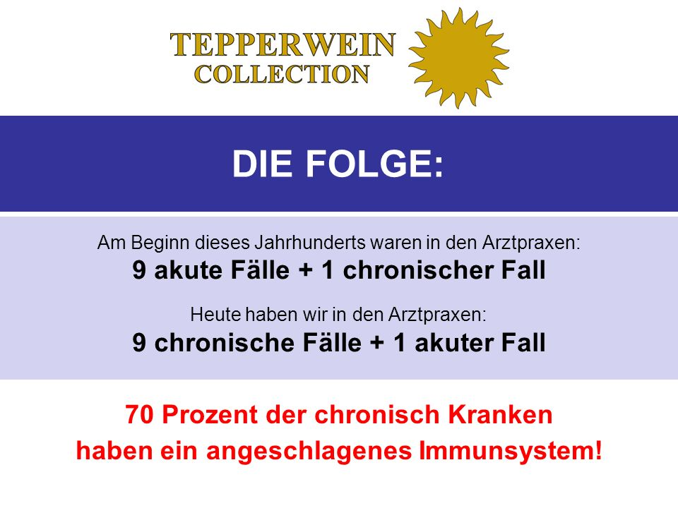 DIE FOLGE: 9 akute Fälle + 1 chronischer Fall