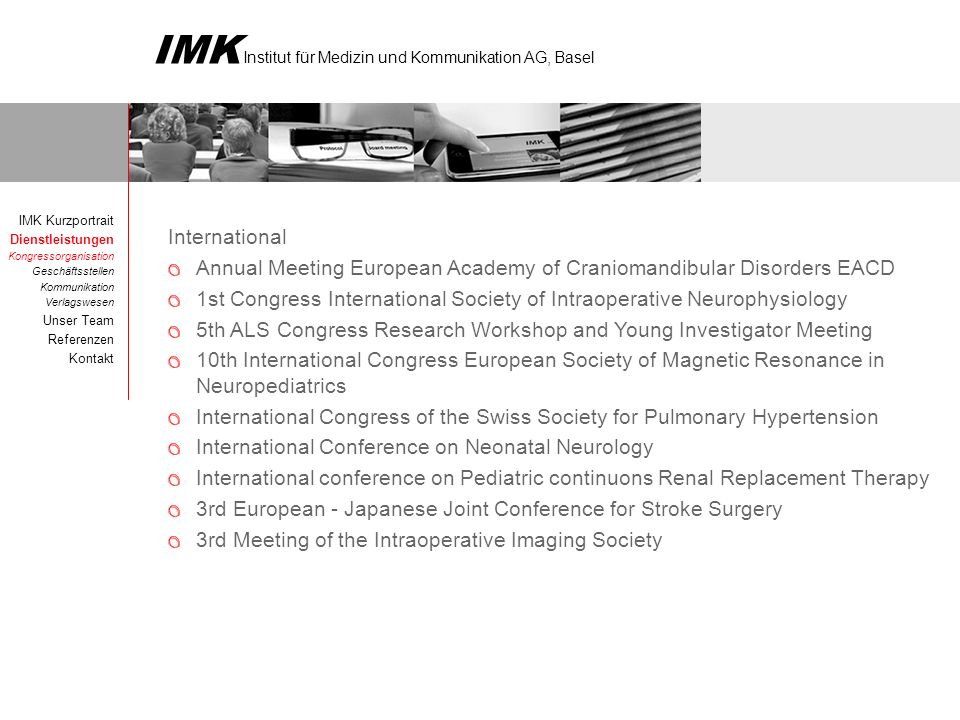 Annual Meeting European Academy of Craniomandibular Disorders EACD