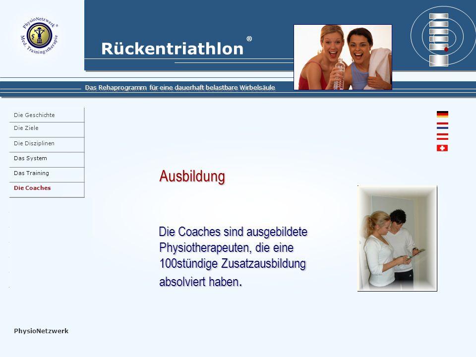 Die Geschichte Die Ziele. Die Disziplinen. Das System. Das Training. Die Coaches. Die Teilnehmer.