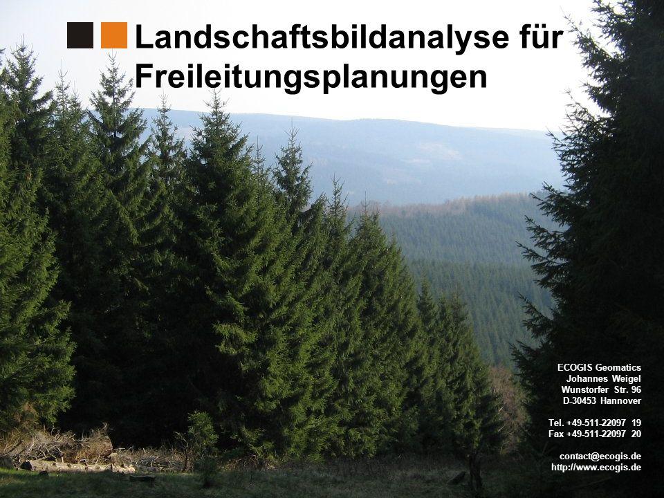 Landschaftsbildanalyse für Freileitungsplanungen