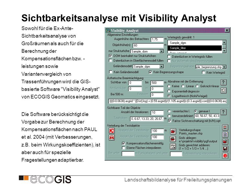 Sichtbarkeitsanalyse mit Visibility Analyst