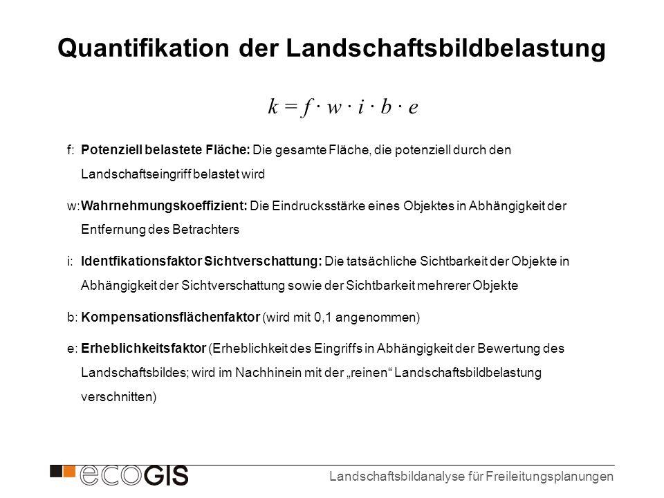 Quantifikation der Landschaftsbildbelastung