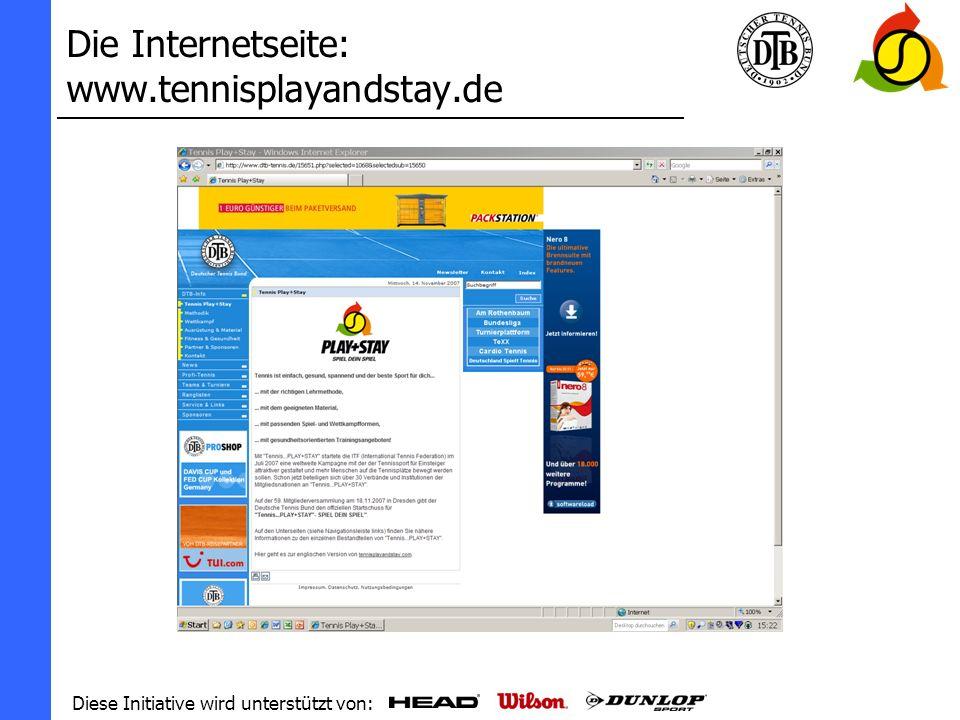 Die Internetseite: www.tennisplayandstay.de