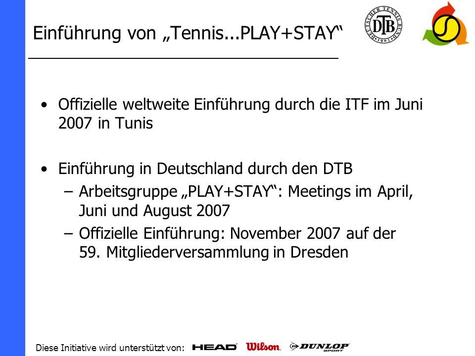"""Einführung von """"Tennis...PLAY+STAY"""