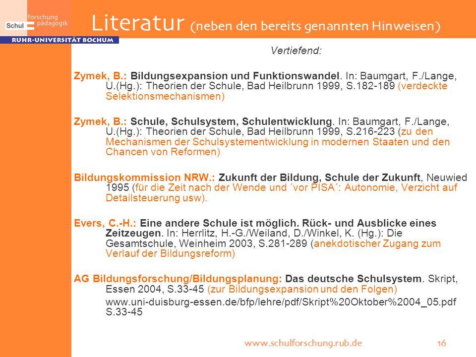 Literatur (neben den bereits genannten Hinweisen)