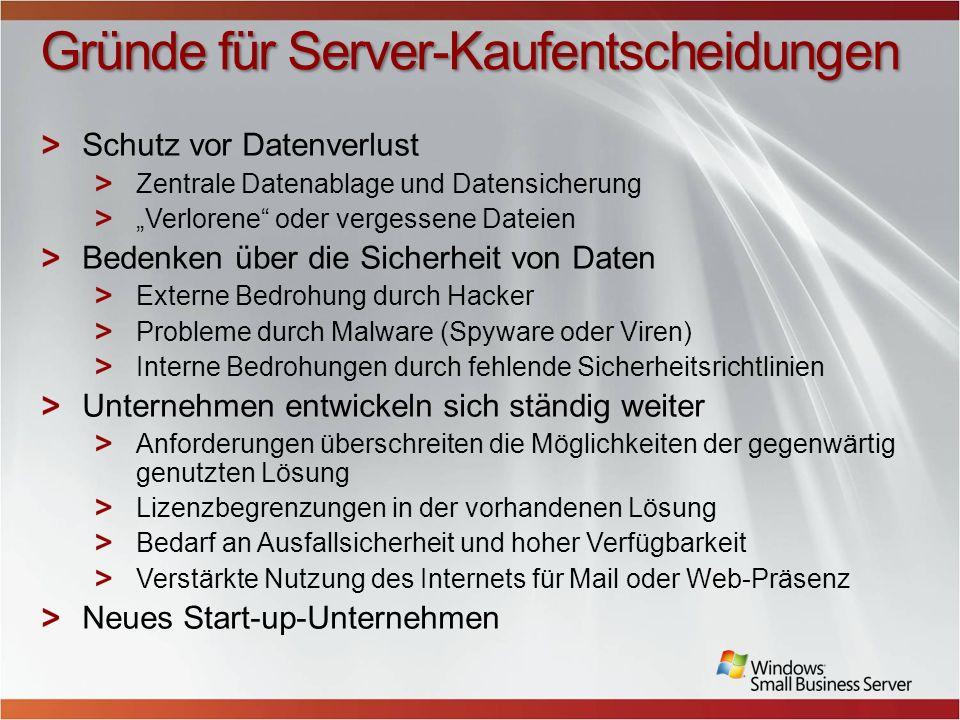Gründe für Server-Kaufentscheidungen