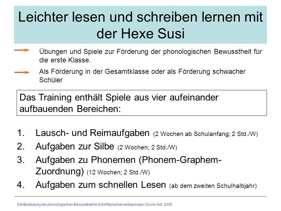 training phonologische bewusstheit