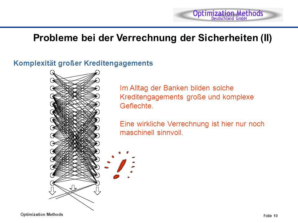 Probleme bei der Verrechnung der Sicherheiten (II)