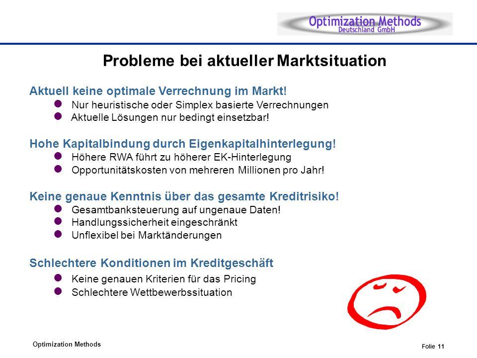 Probleme bei aktueller Marktsituation