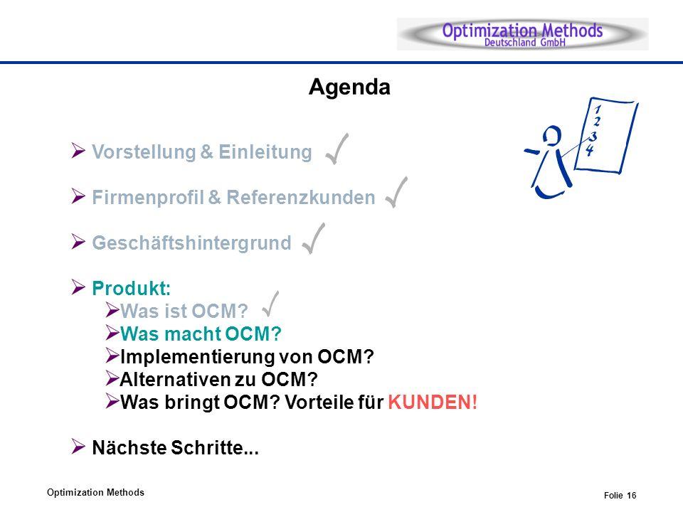 Agenda Vorstellung & Einleitung Firmenprofil & Referenzkunden