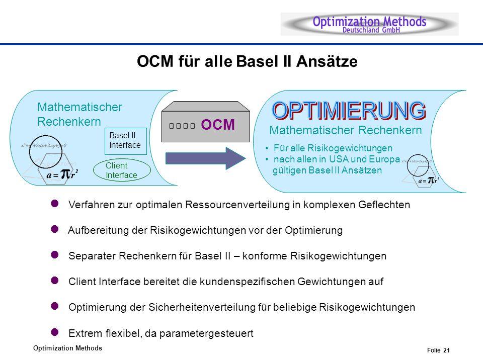 OCM für alle Basel II Ansätze