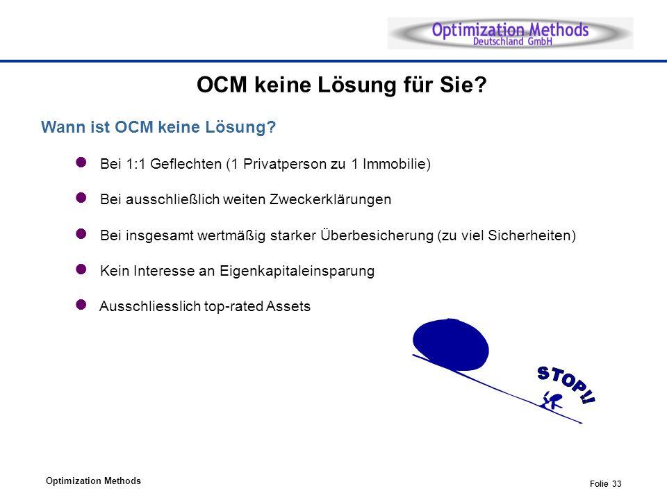 OCM keine Lösung für Sie