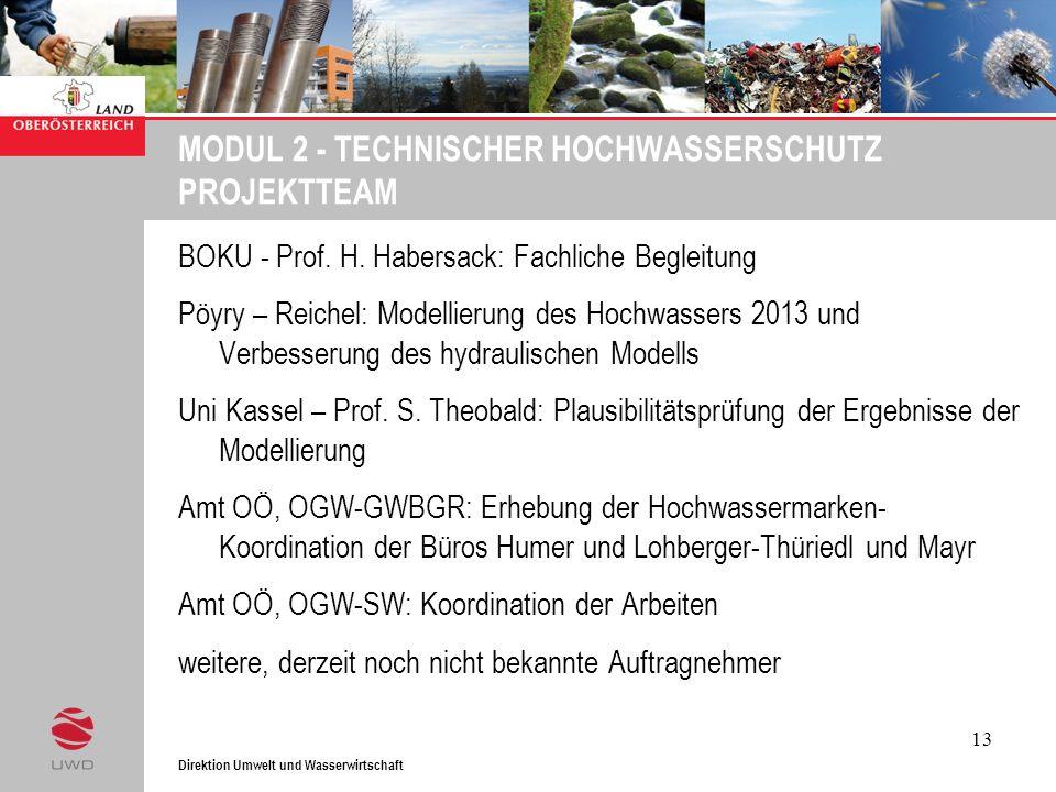 MODUL 2 - TECHNISCHER HOCHWASSERSCHUTZ PROJEKTTEAM