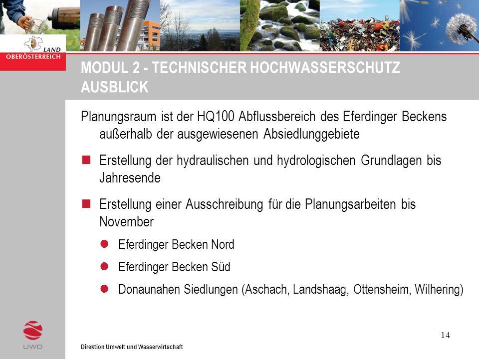 MODUL 2 - TECHNISCHER HOCHWASSERSCHUTZ AUSBLICK