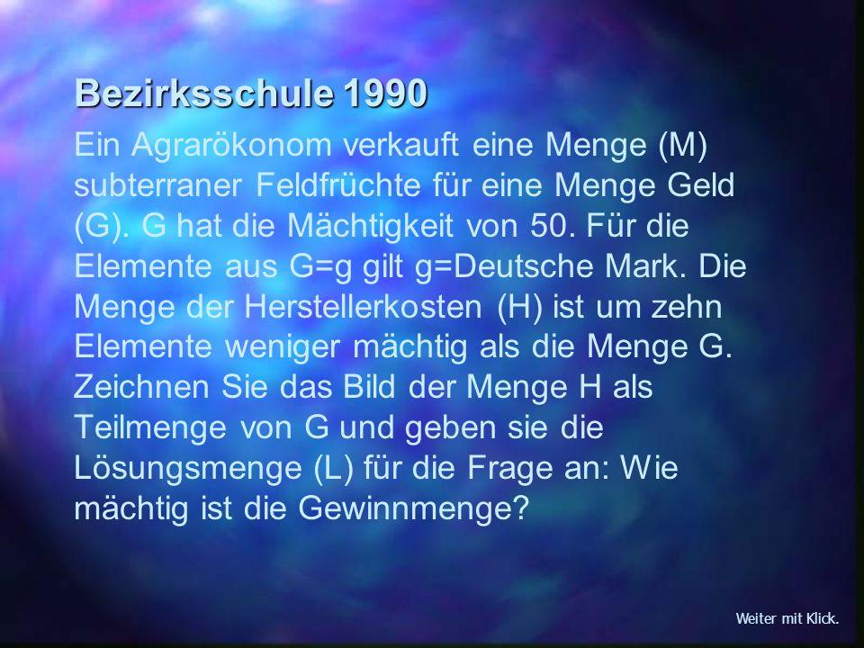 Bezirksschule 1990