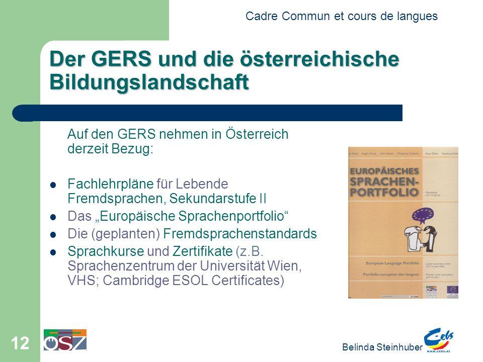 Der GERS und die österreichische Bildungslandschaft