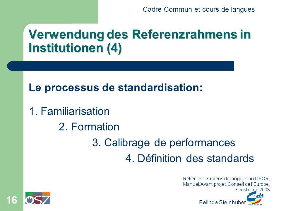 Verwendung des Referenzrahmens in Institutionen (4)
