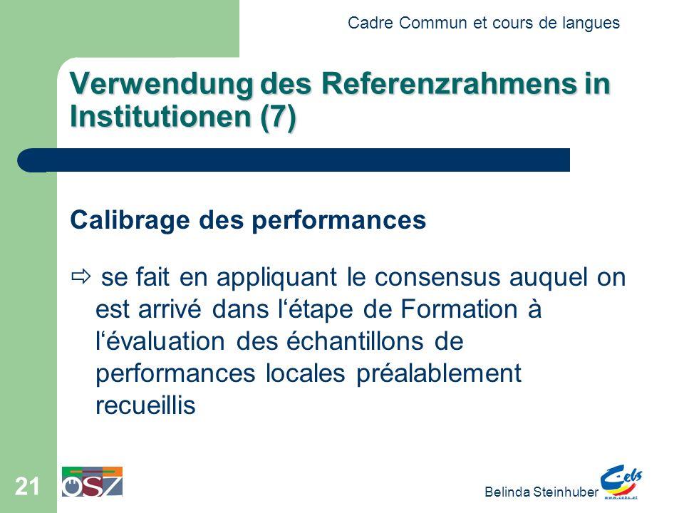Verwendung des Referenzrahmens in Institutionen (7)