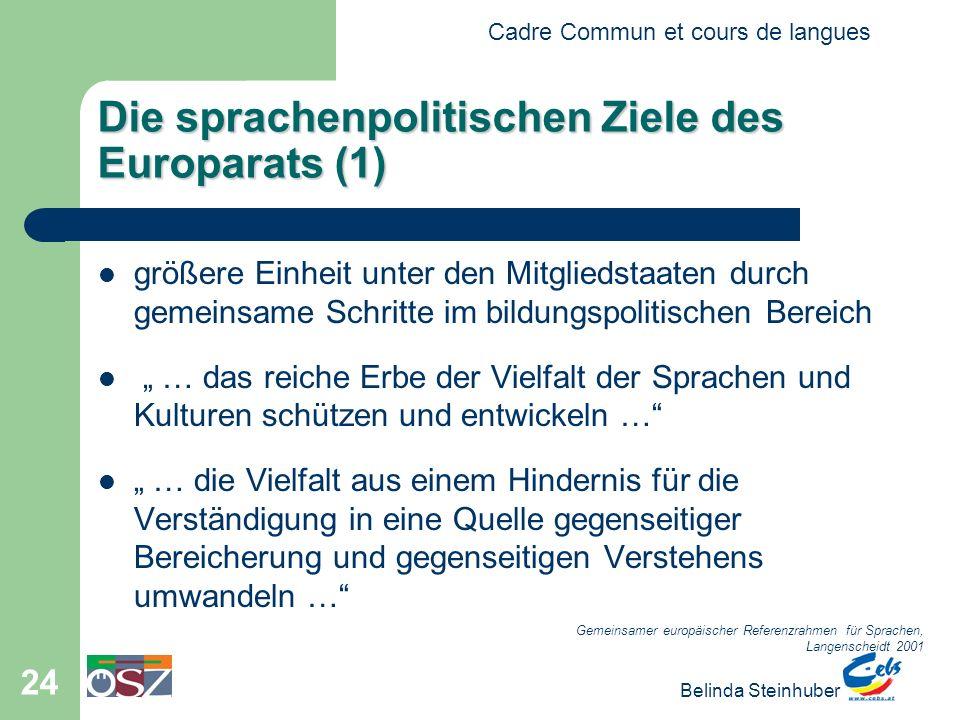 Die sprachenpolitischen Ziele des Europarats (1)