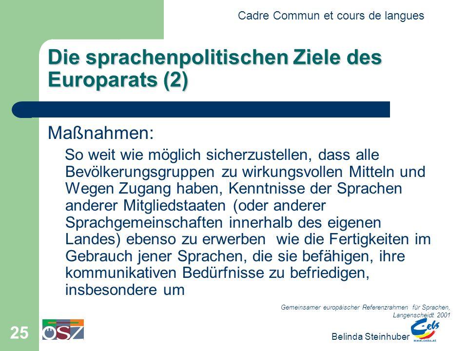Die sprachenpolitischen Ziele des Europarats (2)