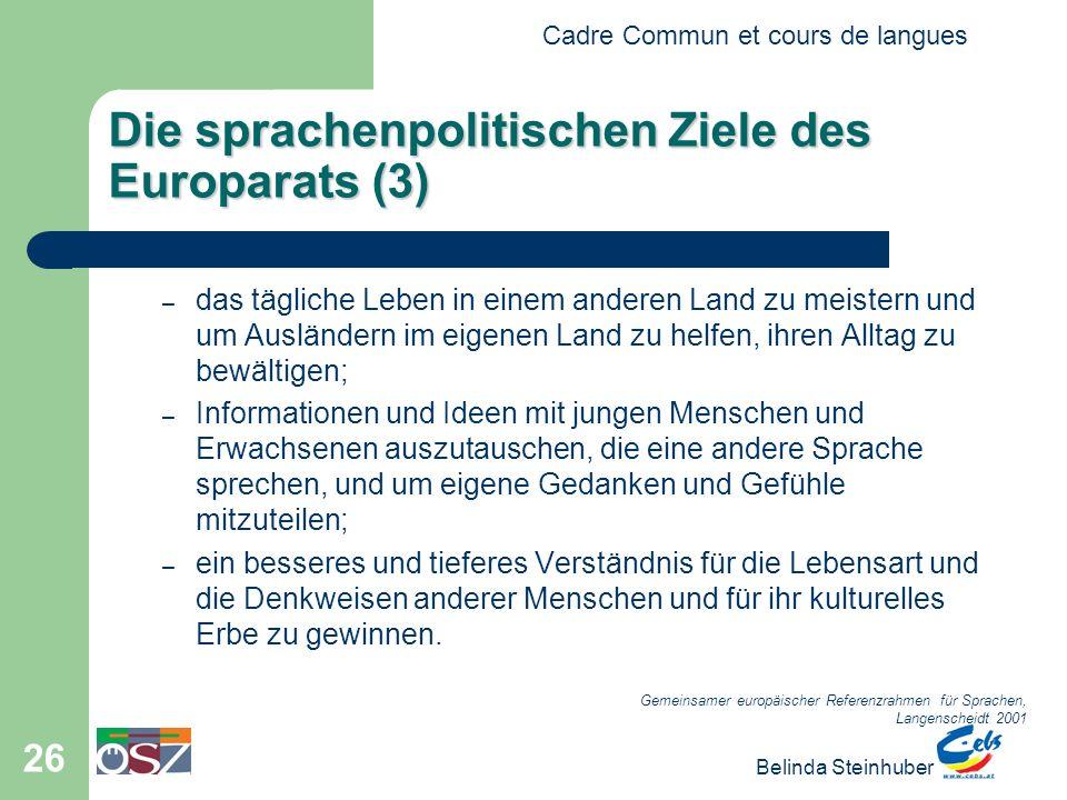 Die sprachenpolitischen Ziele des Europarats (3)