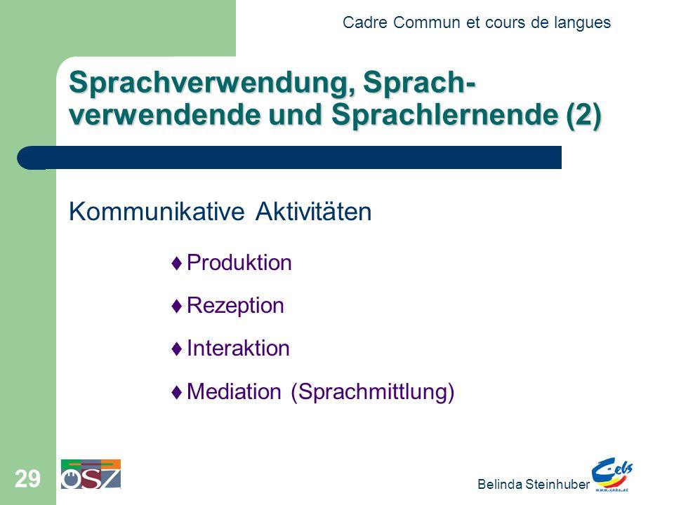 Sprachverwendung, Sprach-verwendende und Sprachlernende (2)