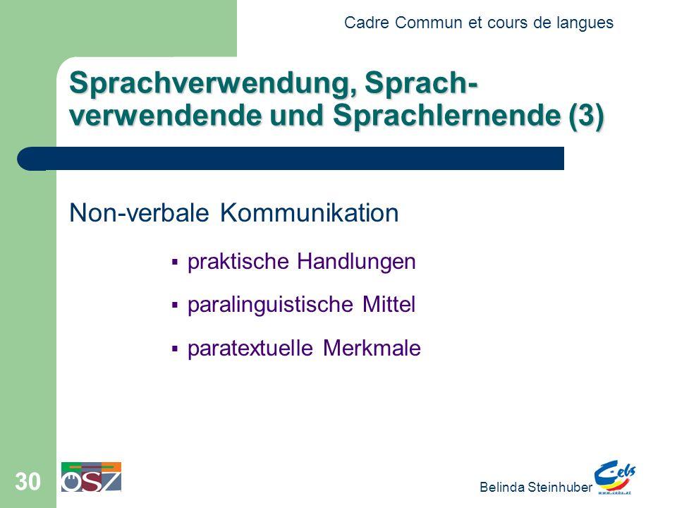 Sprachverwendung, Sprach-verwendende und Sprachlernende (3)