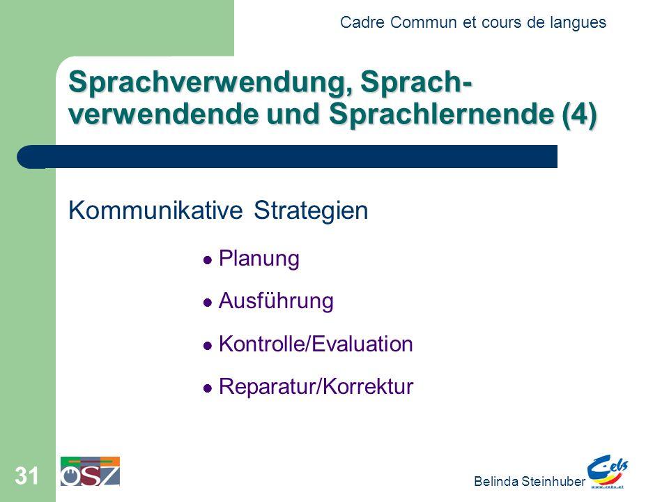 Sprachverwendung, Sprach-verwendende und Sprachlernende (4)