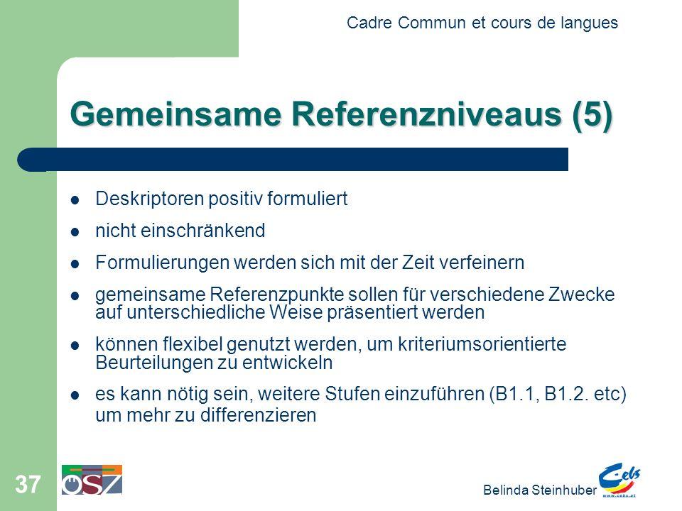 Gemeinsame Referenzniveaus (5)
