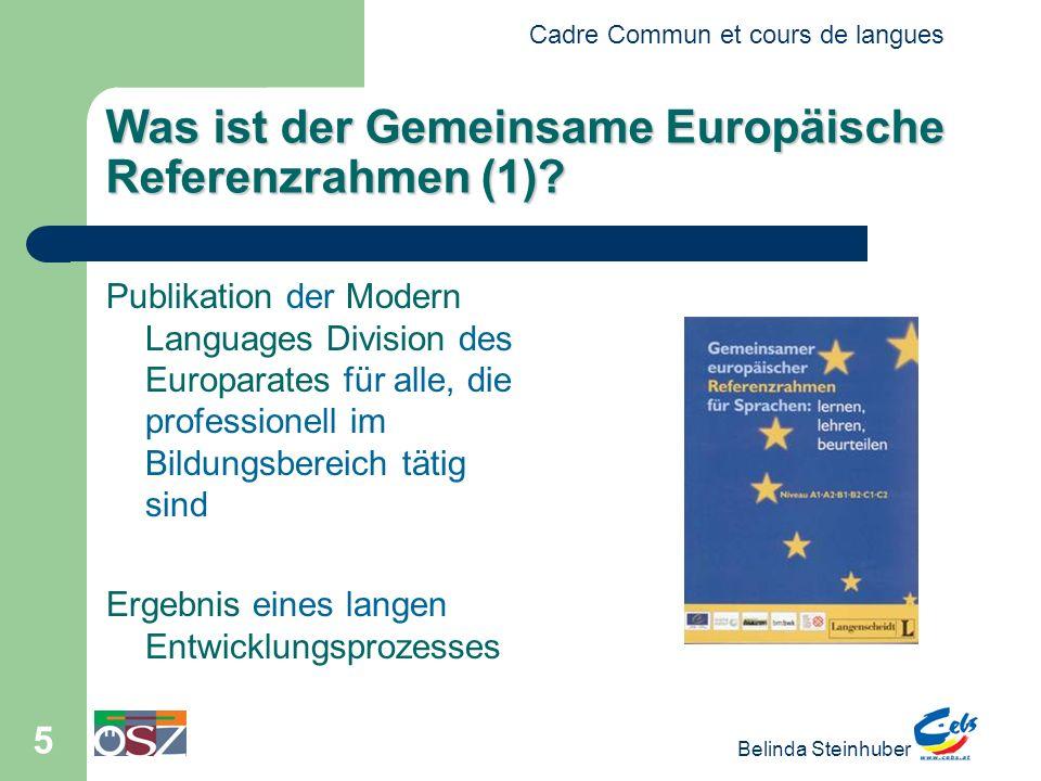 Was ist der Gemeinsame Europäische Referenzrahmen (1)