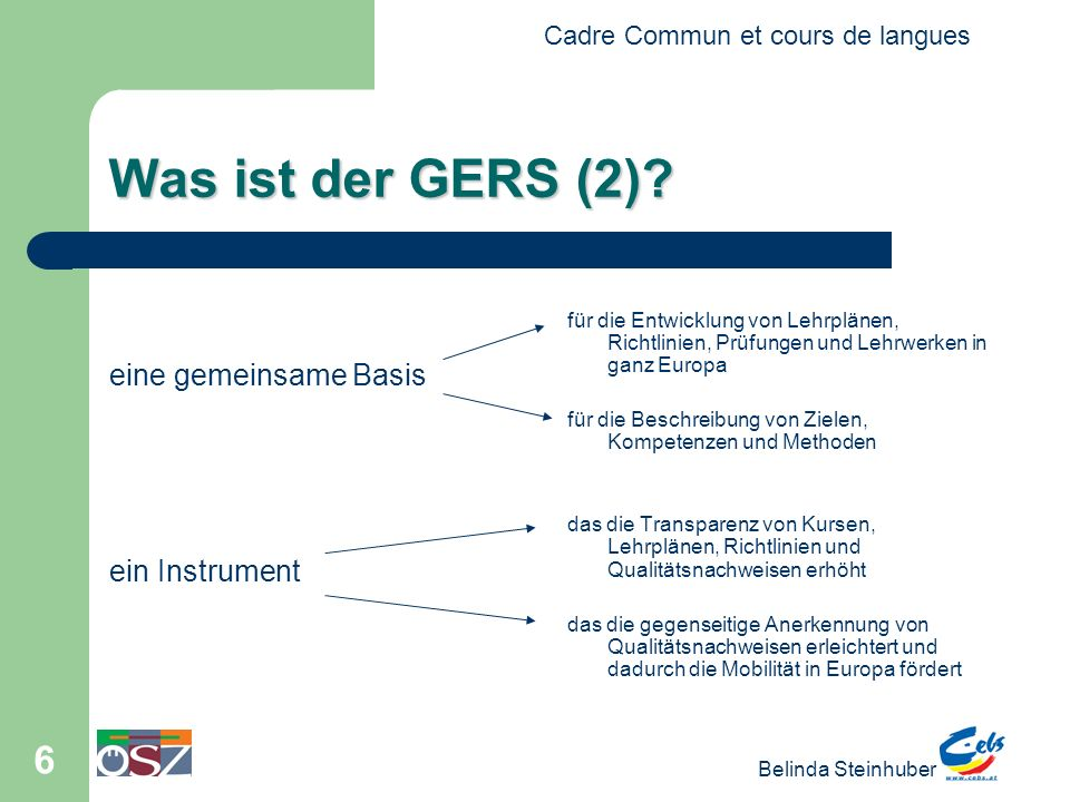 Was ist der GERS (2) eine gemeinsame Basis ein Instrument