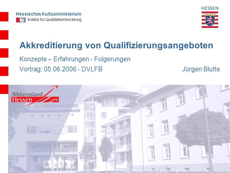 Akkreditierung von Qualifizierungsangeboten