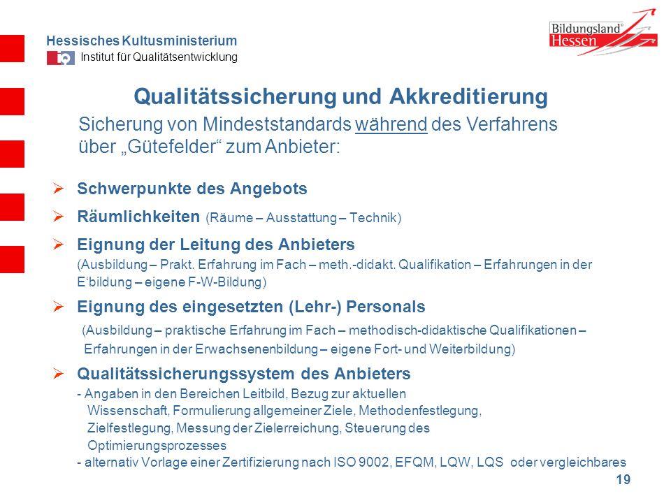 Qualitätssicherung und Akkreditierung