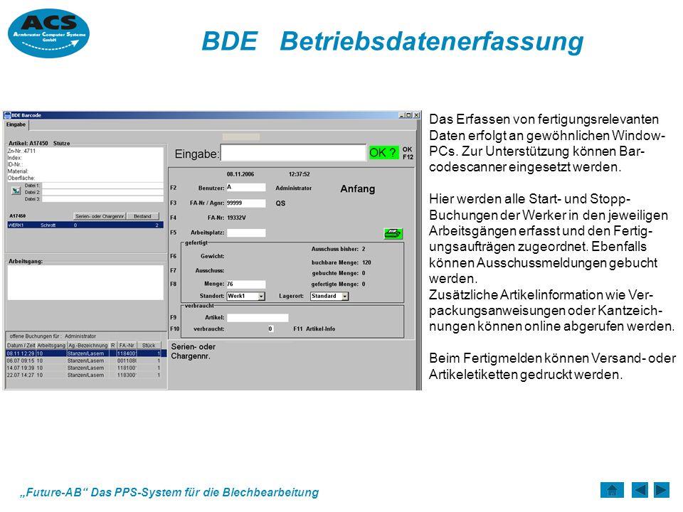 BDE Betriebsdatenerfassung