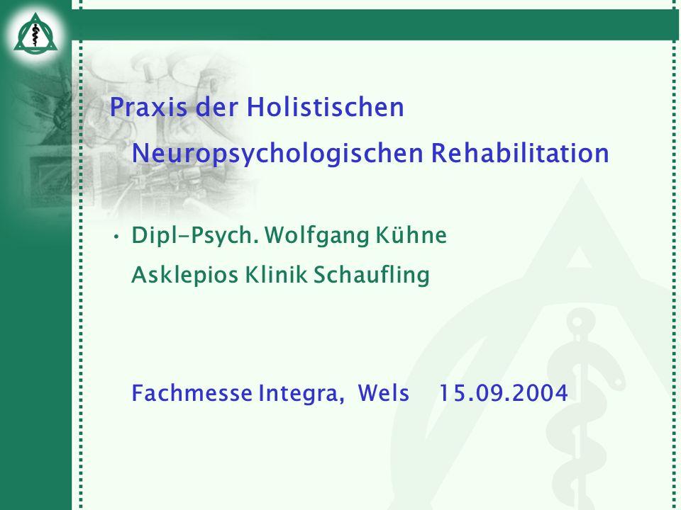 Praxis der Holistischen Neuropsychologischen Rehabilitation