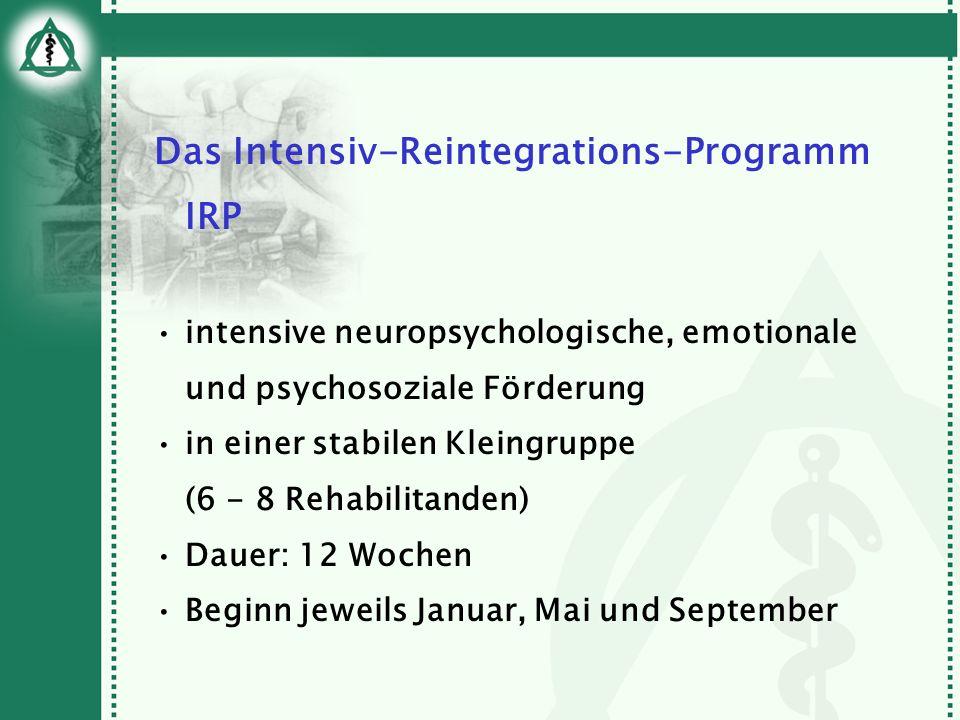 Das Intensiv-Reintegrations-Programm IRP