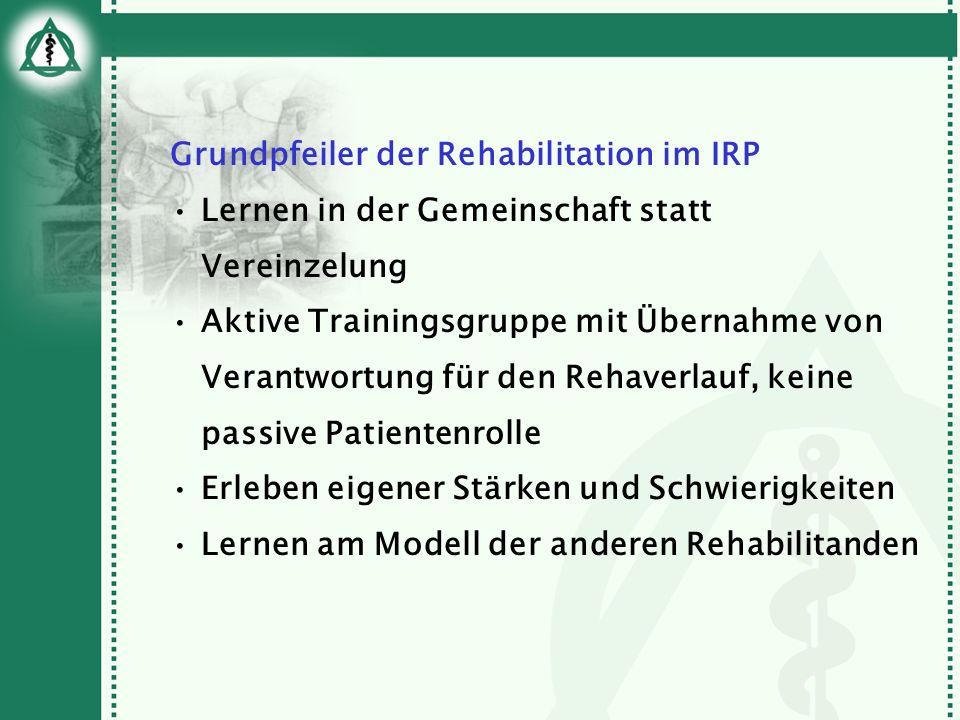 Grundpfeiler der Rehabilitation im IRP