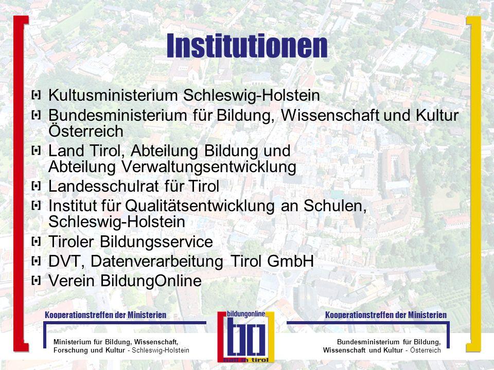 Institutionen Kultusministerium Schleswig-Holstein