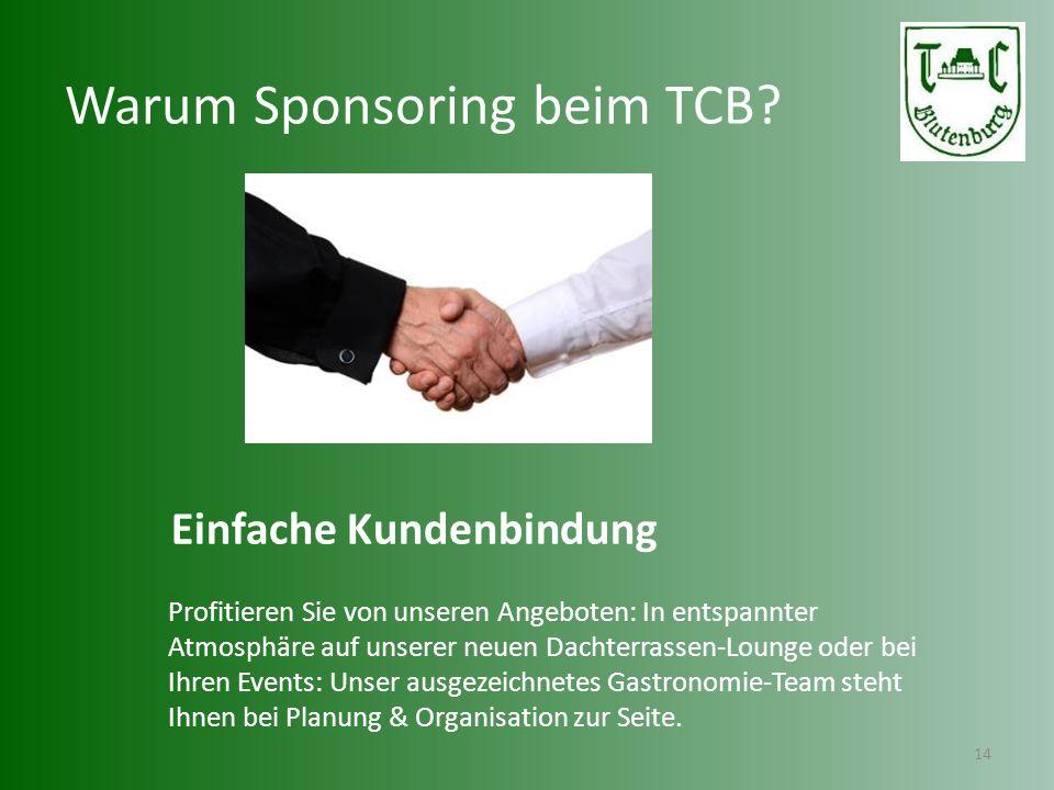 Warum Sponsoring beim TCB