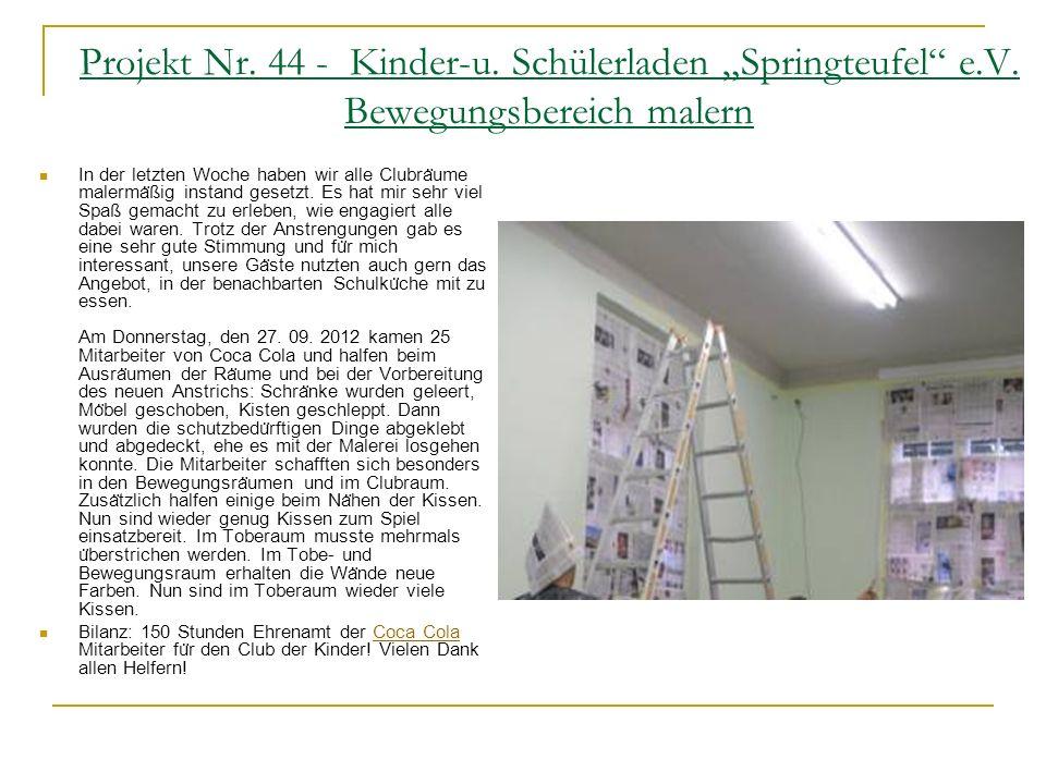 """Projekt Nr. 44 - Kinder-u. Schülerladen """"Springteufel e. V"""