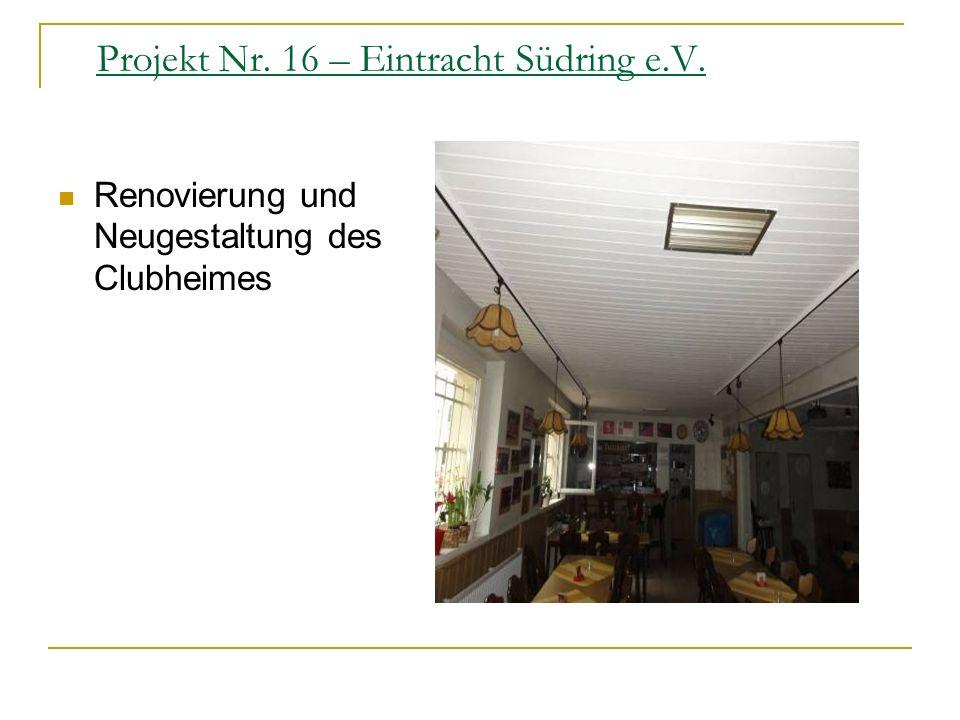 Projekt Nr. 16 – Eintracht Südring e.V.