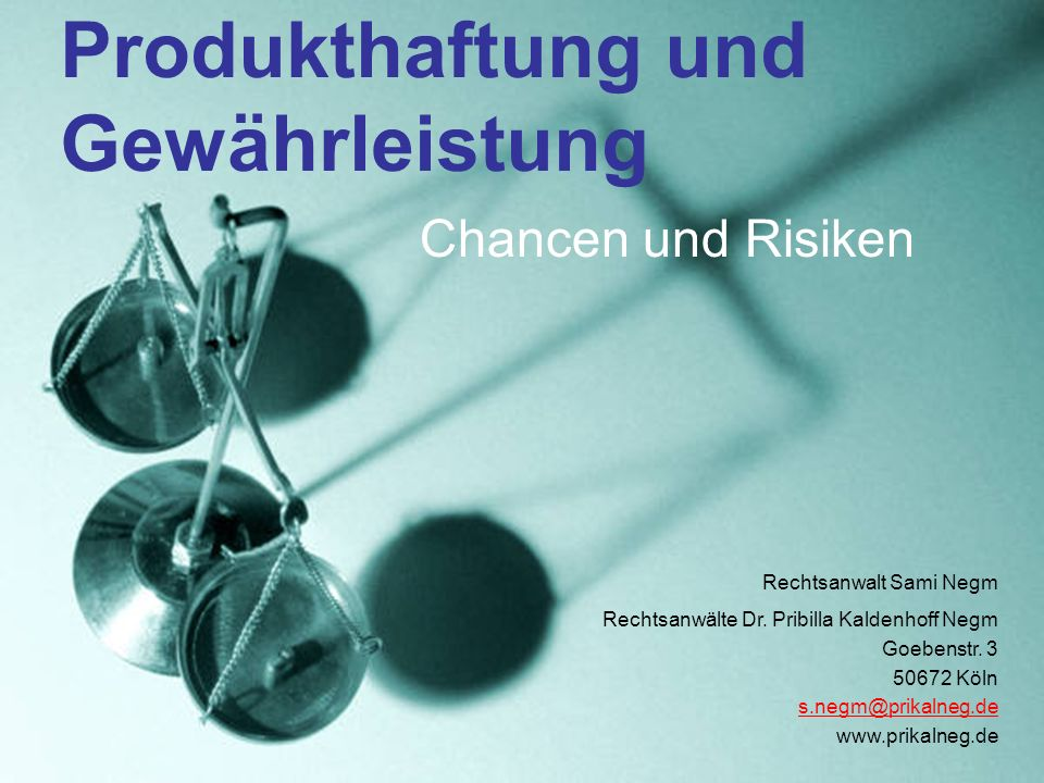 Produkthaftung und Gewährleistung