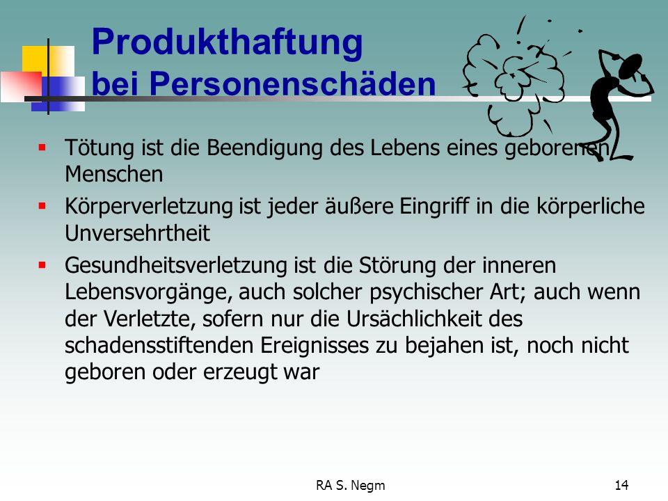 Produkthaftung bei Personenschäden