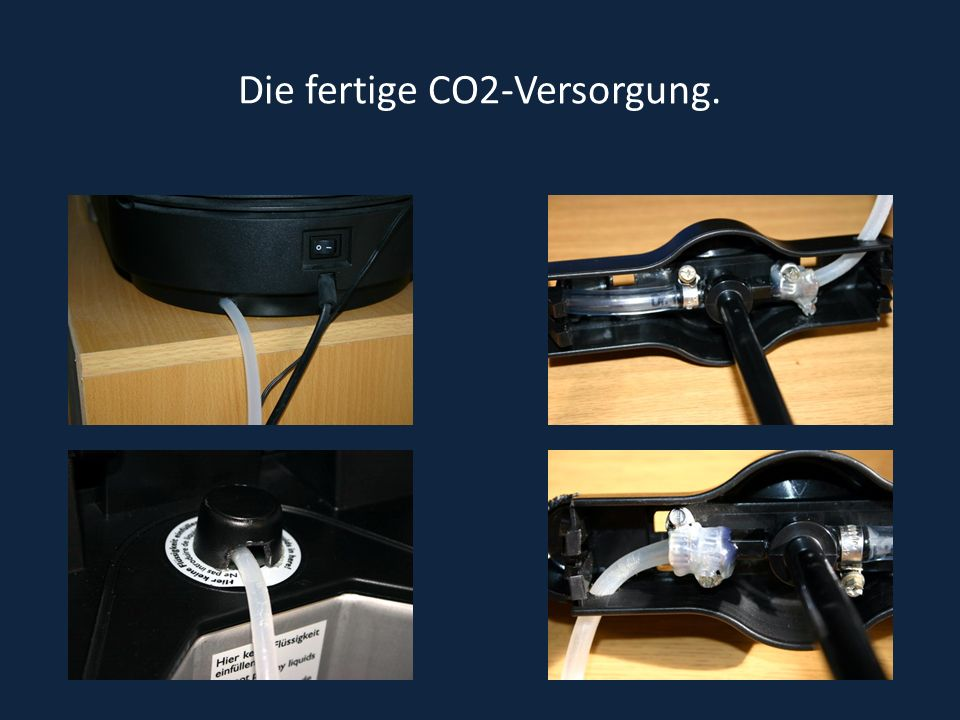 Die fertige CO2-Versorgung.