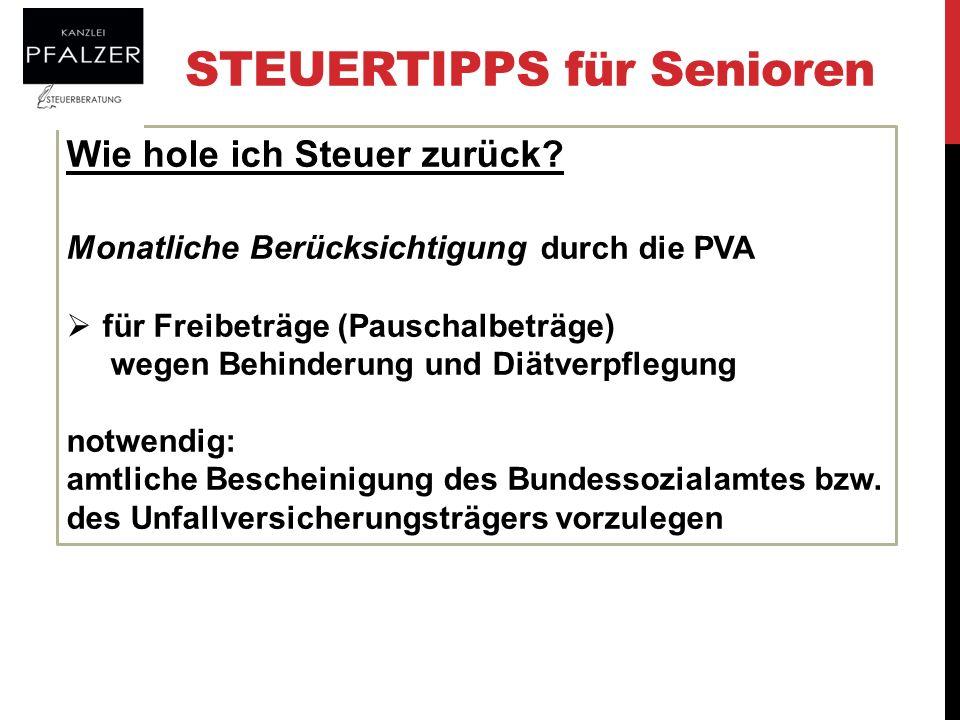 Steuertipps für Senioren