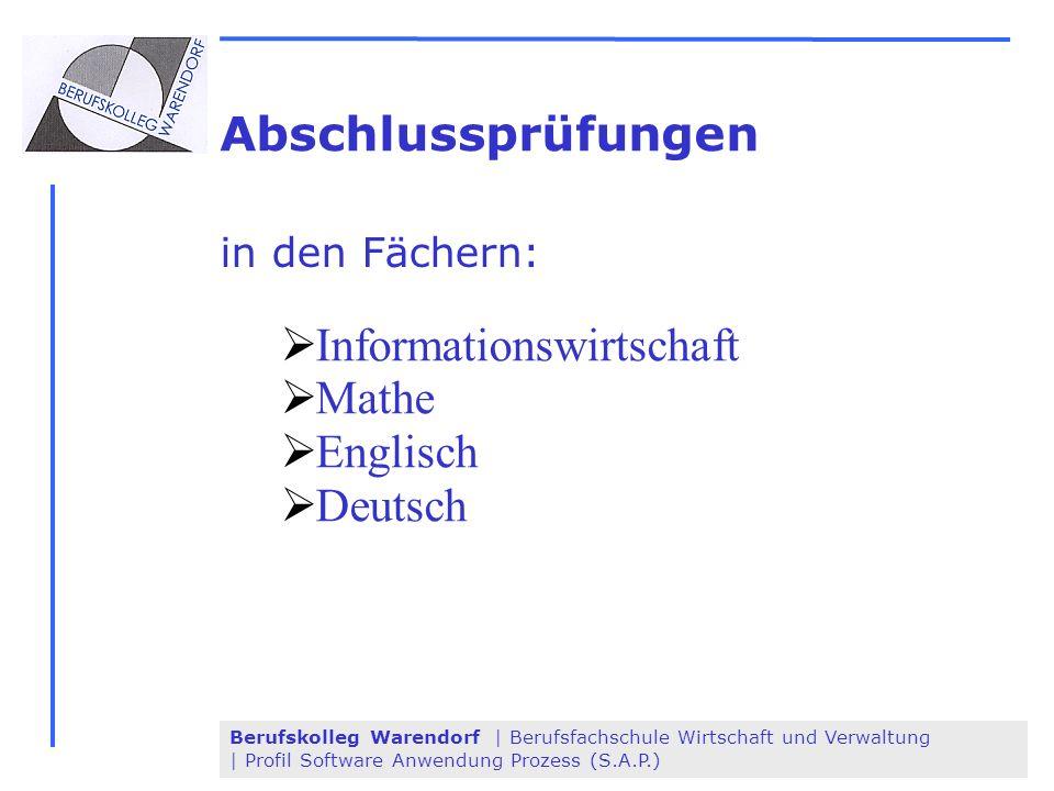 Informationswirtschaft Mathe Englisch Deutsch