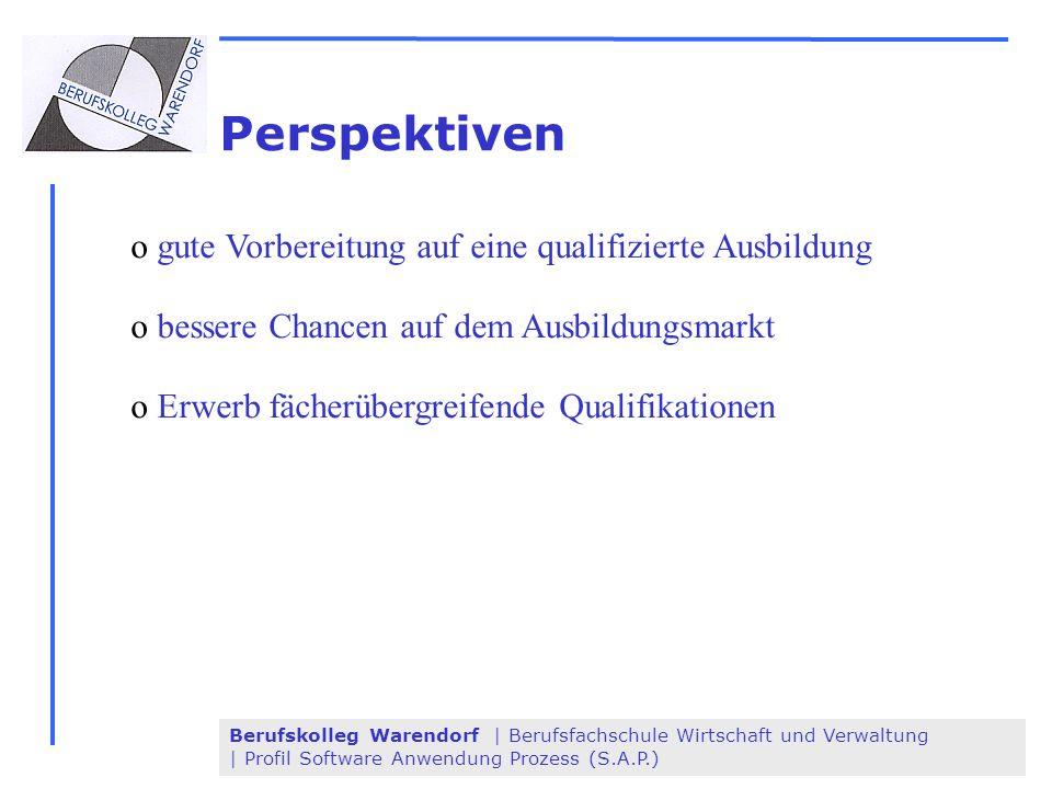 Perspektiven gute Vorbereitung auf eine qualifizierte Ausbildung