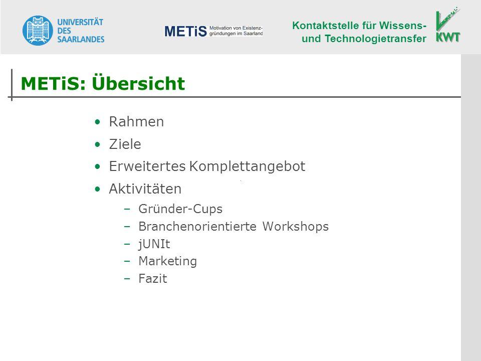 METiS: Übersicht Rahmen Ziele Erweitertes Komplettangebot Aktivitäten